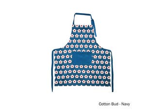 Cotton Bud Apron Navy by IDC Homewares