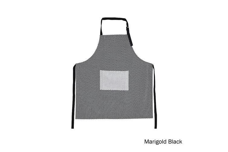 Cotton Apron Marigold Black by IDC Homewares