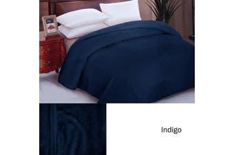 IDC Mink Blanket Queen Indigo by IDC Homewares