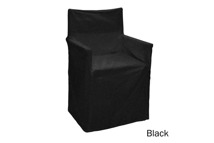 Cotton Director Chair Cover Black by IDC Homewares