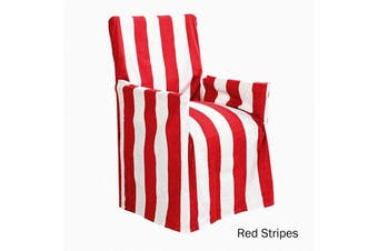 Cotton Director Chair Cover Red Stripes by IDC Homewares