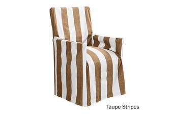 Cotton Director Chair Cover Taupe Stripes by IDC Homewares