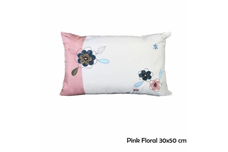 Pink Floral 30x45 cm Cushion by IDC Homewares