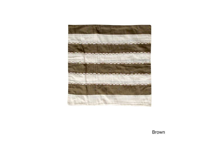 Ayra Sequined Embroidered Cushion Cover Brown by IDC Homewares