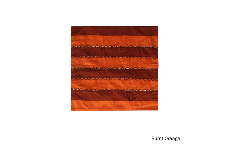 Ayra Sequined Embroidered Cushion Cover Burnt Orange by IDC Homewares