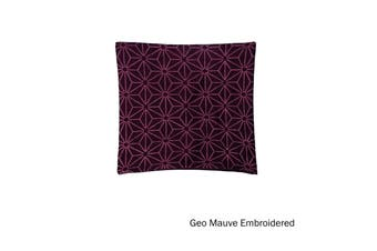 Quality Cushion Cover Geo Mauve by IDC Homewares