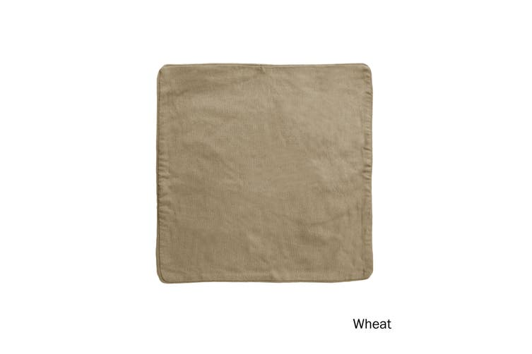 Lollipop Cotton Piped Cushion Cover 60 cm square Wheat by IDC Homewares