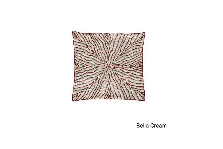 Sequin Cushion Cover Bella Cream by IDC Homewares
