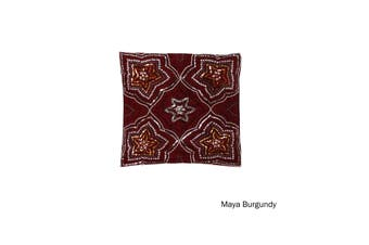 Sequin Cushion Cover Maya Burgundy by IDC Homewares