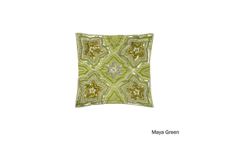 Sequin Cushion Cover Maya Green by IDC Homewares