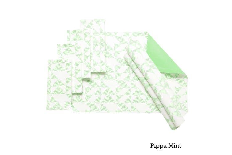 Set of 8 Cotton Napery Set Pippa Mint by J Elliot Home