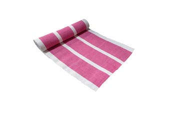Ribbed Pattern Table Runner Gelato Raspberry by IDC Homewares
