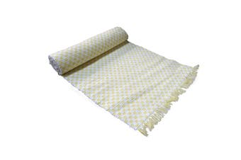 Ribbed Pattern Table Runner Gingham Yellow by IDC Homewares
