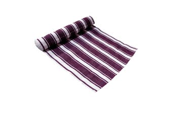 Ribbed Pattern Table Runner Panama Narrow Aubergine by IDC Homewares