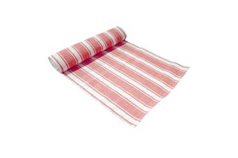 Ribbed Pattern Table Runner Panama Narrow Coral by IDC Homewares