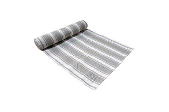 Ribbed Pattern Table Runner Panama Narrow Grey by IDC Homewares