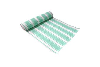 Ribbed Pattern Table Runner Panama Narrow Mint by IDC Homewares