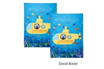 Set of 2 Christopher Vine Design Tea Towels Great Barrier Reef by IDC Homewares