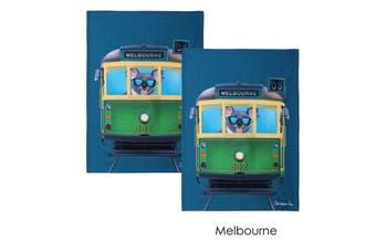 Set of 2 Christopher Vine Design Tea Towels Melbourne by IDC Homewares