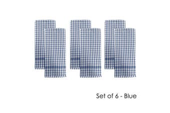 Set of 6 Elly Terry Tea Towels Blue by J Elliot Home