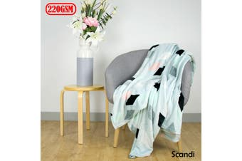 Scandi Plush Blanket Double/Queen by Apartmento