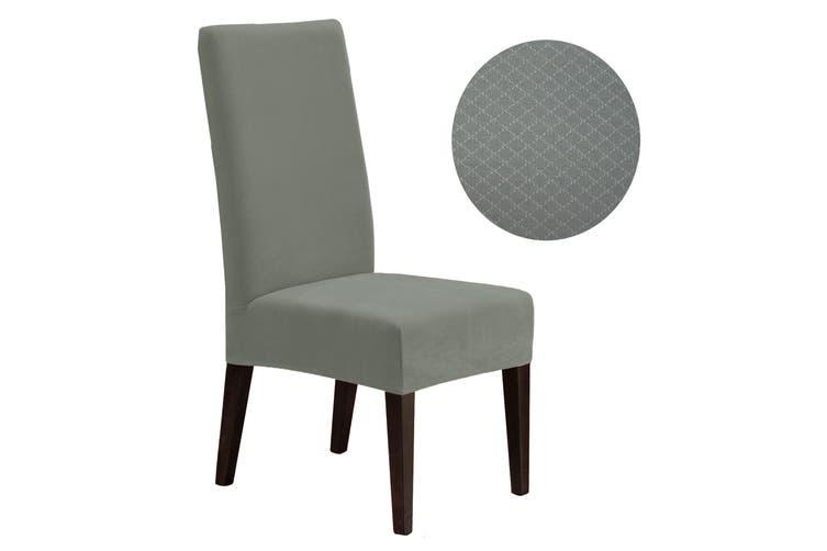 Surefit Dining Chair Cover Diamond Silver by Surefit