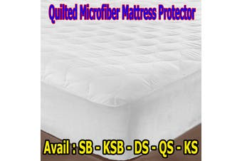 Microfibre Quilted Mattress Protector - QUEEN