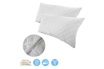 Twin Pack Quilted King Pillow Protectors