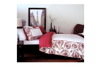 Antionette Red Quilt Cover Set Single