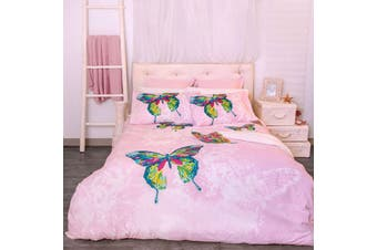 Retro Home Butterfly Quilt Cover Set Double