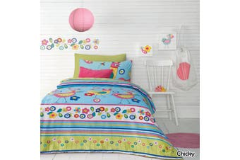 Ardor Kids Quilt Cover Set Chicky DOUBLE by Ardor