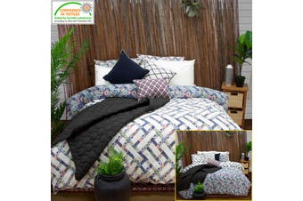 Corley Quilted Reversible Quilt Cover Set Queen