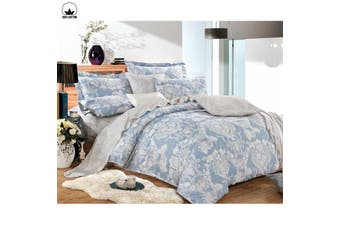 Coventry Cotton Reversible Quilt Cover Set Queen