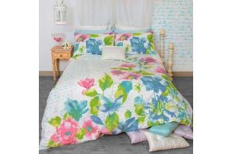 Retro Home Fiore Quilt Cover Set Double