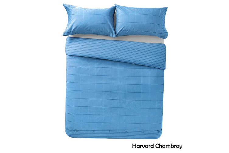 Harvard Chambray Quilt Cover Set King