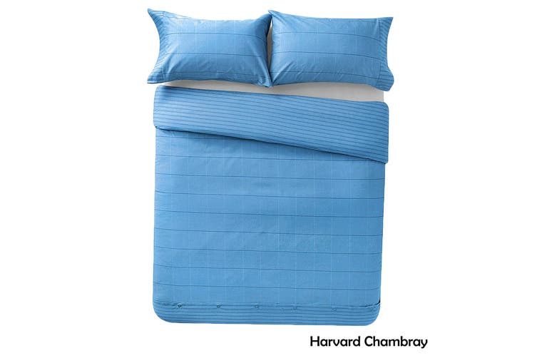 Harvard Chambray Quilt Cover Set Queen