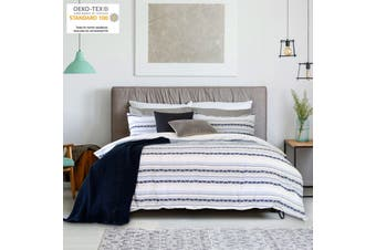 Idaho Navy Yarn Dyed Quilt Cover Set by Ardor