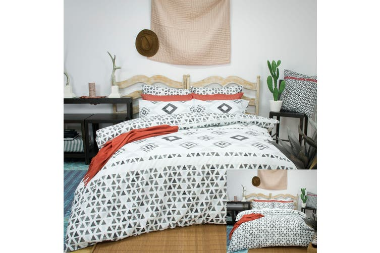 Imala Reversible Quilt Cover Set QUEEN