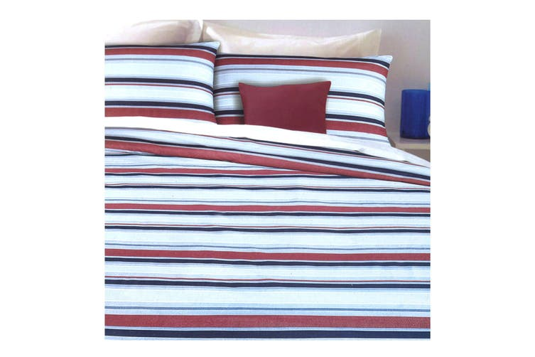 Infinity Navy Quilt Cover Set Queen
