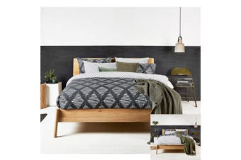 Java Reversible Quilt Cover Set QUEEN