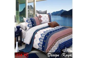 250TC Ardor Cotton Quilt Cover Set Kaya SINGLE