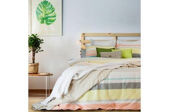 Lennox Polyester Cotton Quilt Cover Set by Apartmento