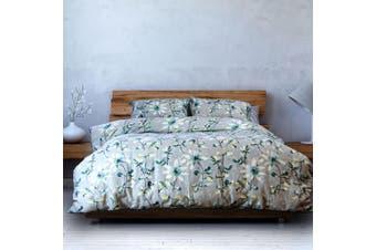 Lucille Textured Cotton Quilt Cover Set Queen