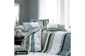 MONTREAL Quilt Cover Set SINGLE by Apartmento