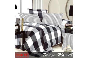 250TC Ardor Cotton Quilt Cover Set Maxwell KING