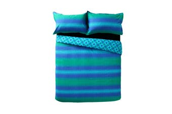 Miami Teal Quilt Cover Set King by Apartmento