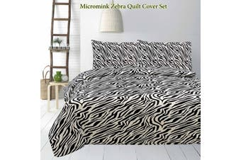 Micromink Quilt Cover Set Zebra by Apartmento