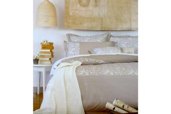 225TC Cotton Rich Paisley Stone Quilt Cover Set Queen by Ardor