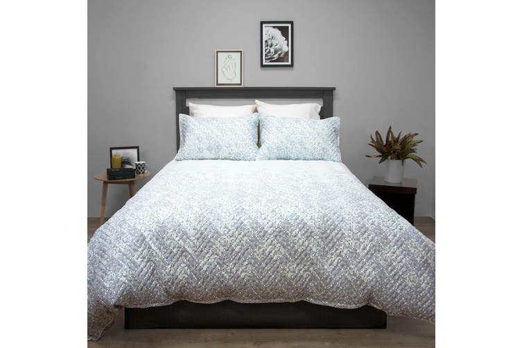 Terrace Quilted Embossed Quilt Cover Set DOUBLE