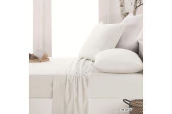 Easy-care Micro Flannelette Sheet Set Snow King Single